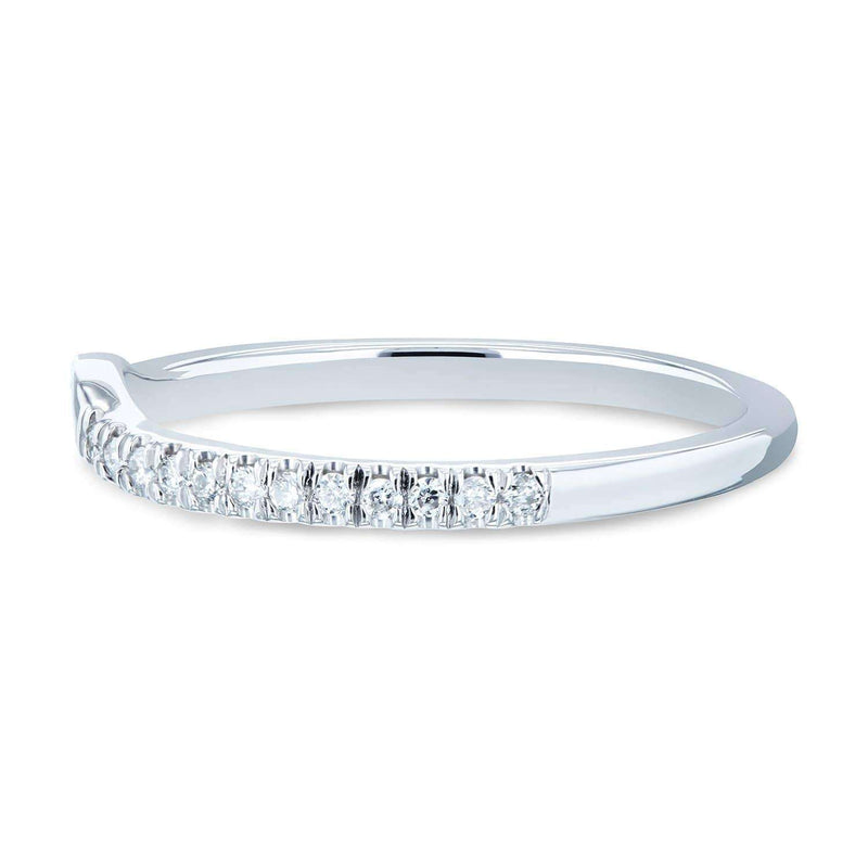 Kobelli Notched Diamond Wedding Band 1/8 CTW 14k White Gold - 61766 Series