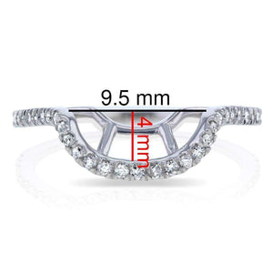 Kobelli Matching Diamond Wedding Band 14K White Gold (1/5 CTW) - 61767 Series