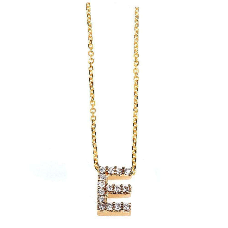 Kobelli Small A-Z Letter Diamond Pendant Gold 61787/E