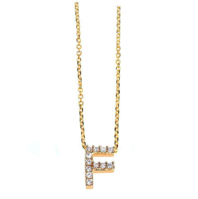 Kobelli Small A-Z Letter Diamond Pendant Gold 61787/F