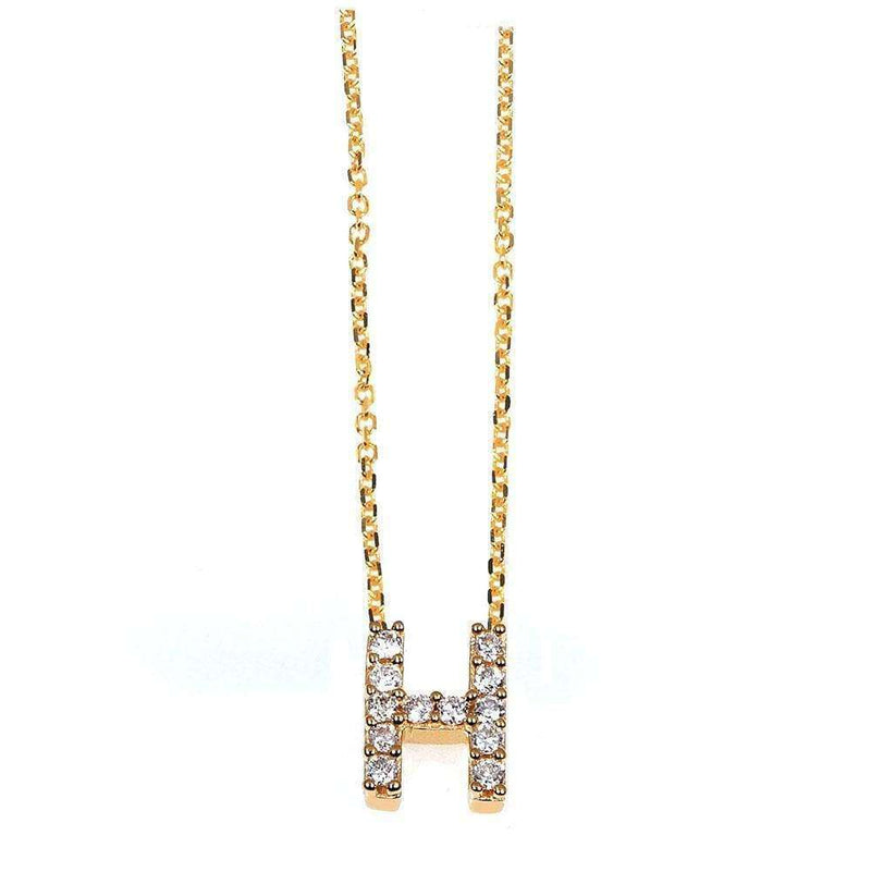 Kobelli Small A-Z Letter Diamond Pendant Gold 61787/H