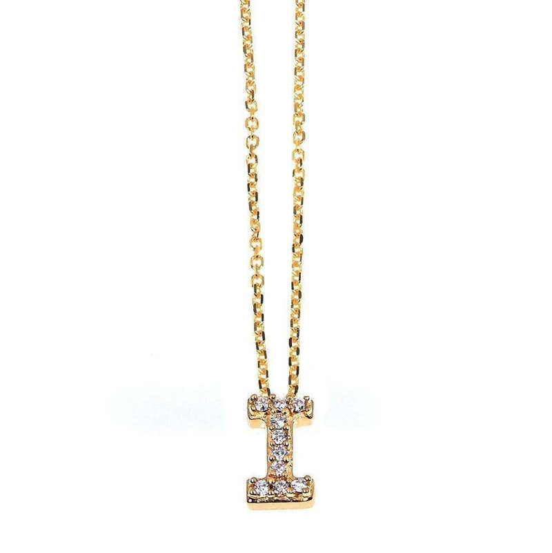 Kobelli Small A-Z Letter Diamond Pendant Gold 61787/I