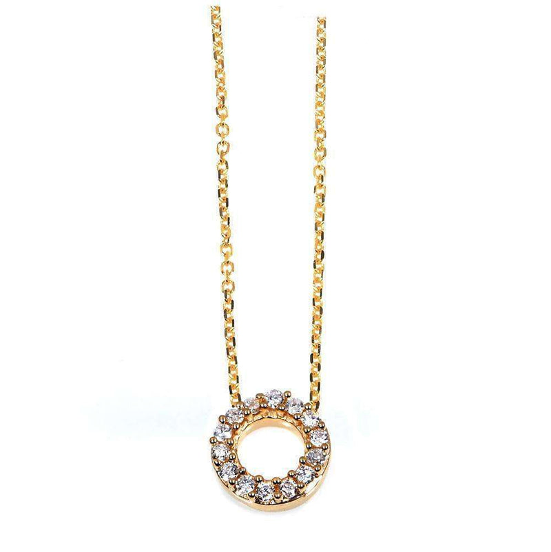 Kobelli Small A-Z Letter Diamond Pendant Gold 61787/O
