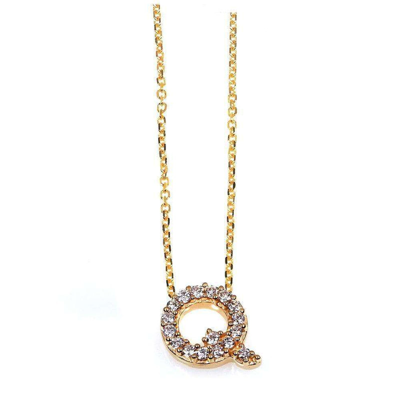 Kobelli Small A-Z Letter Diamond Pendant Gold 61787/Q
