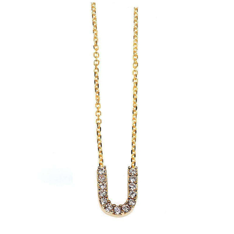 Kobelli Small A-Z Letter Diamond Pendant Gold 61787/U
