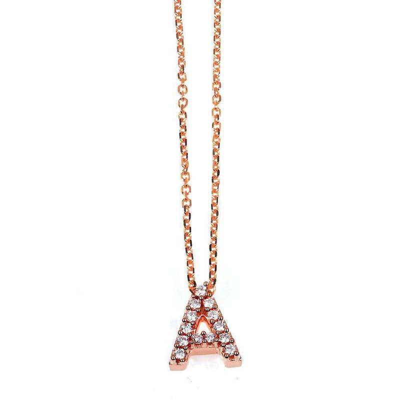 Kobelli Small A-Z Letter Diamond Pendant Gold 61788/A