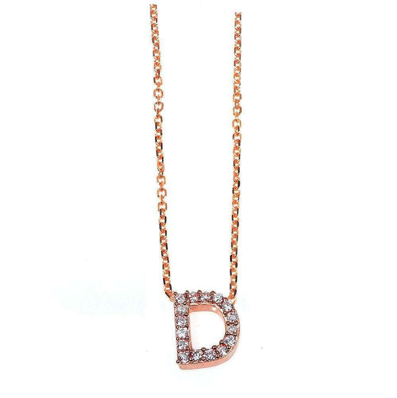 Kobelli Small A-Z Letter Diamond Pendant Gold 61788/D