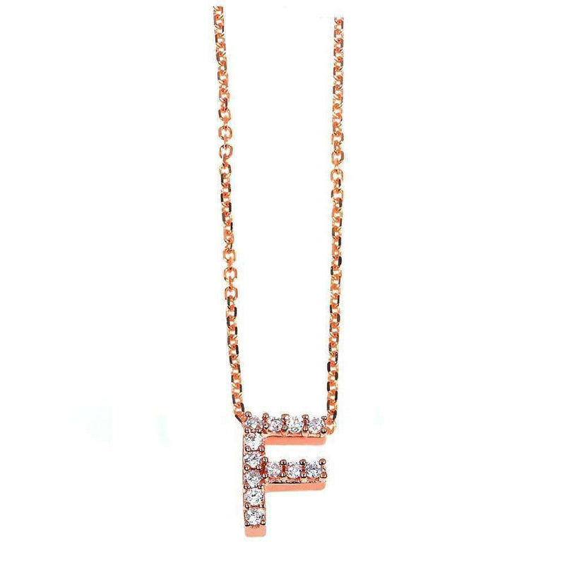 Kobelli Small A-Z Letter Diamond Pendant Gold 61788/F