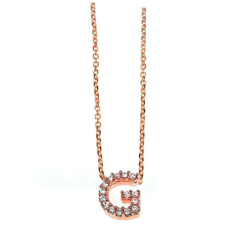 Kobelli Small A-Z Letter Diamond Pendant Gold 61788/G
