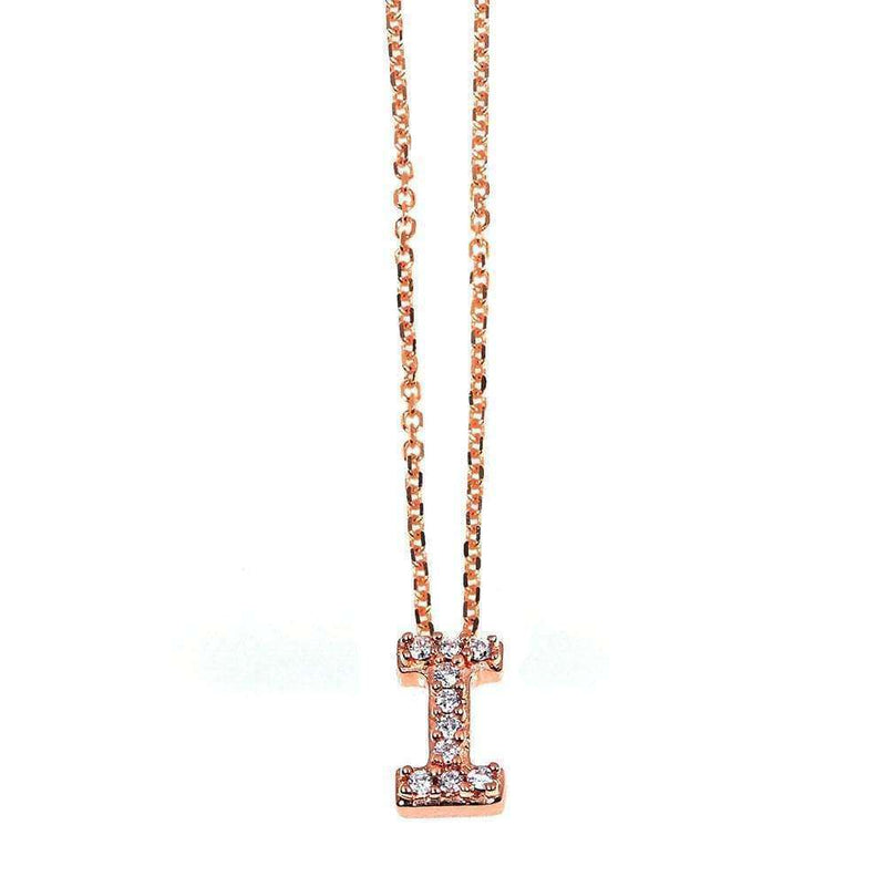 Kobelli Small A-Z Letter Diamond Pendant Gold 61788/I