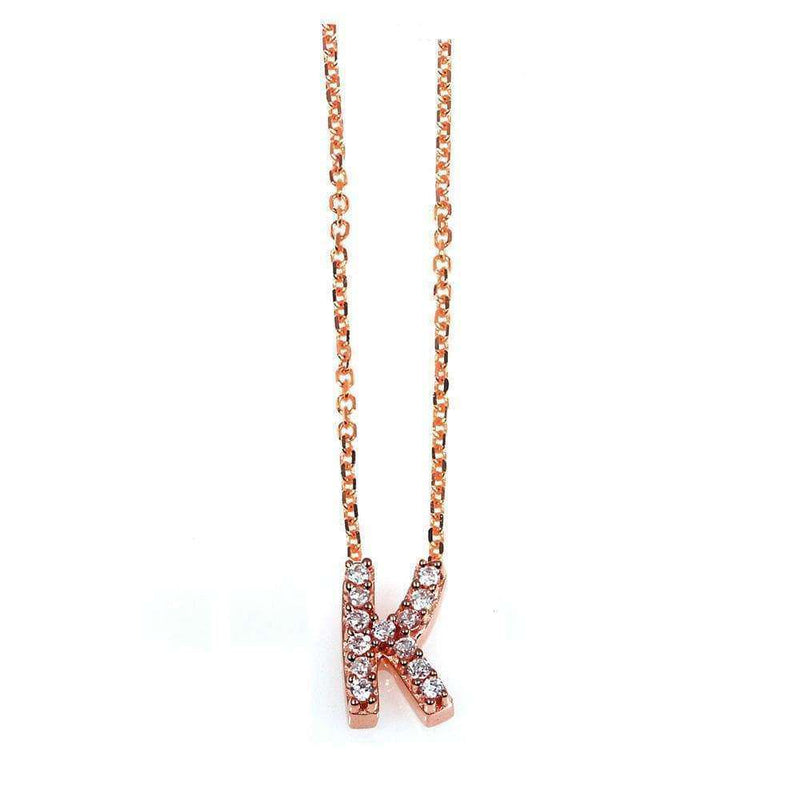 Kobelli Small A-Z Letter Diamond Pendant Gold 61788/K