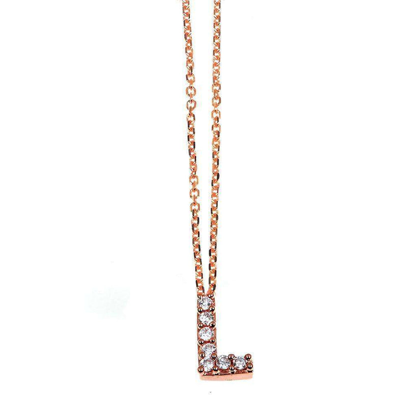 Kobelli Small A-Z Letter Diamond Pendant Gold 61788/L