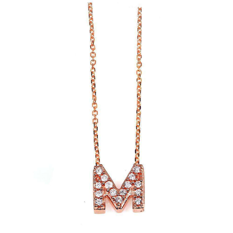 Kobelli Small A-Z Letter Diamond Pendant Gold 61788/M