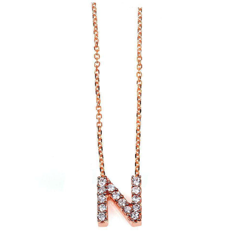 Kobelli Small A-Z Letter Diamond Pendant Gold 61788/N