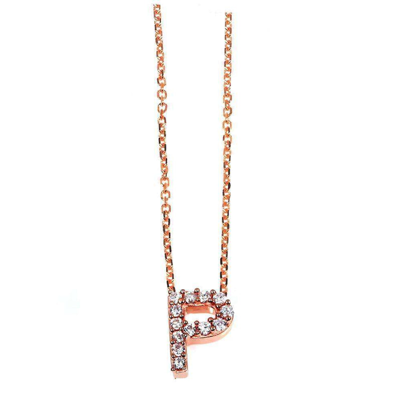 Kobelli Small A-Z Letter Diamond Pendant Gold 61788/P