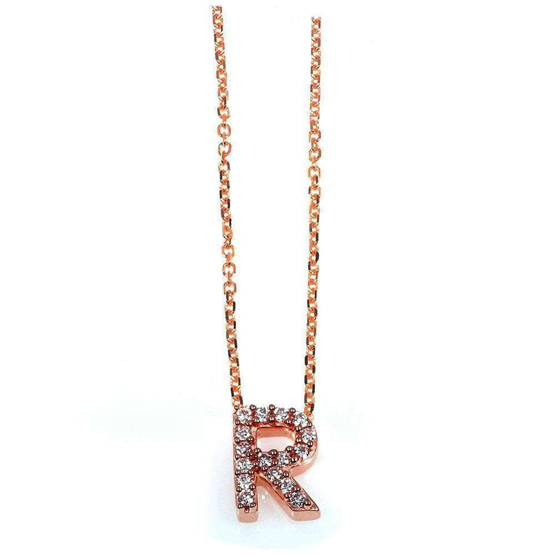 Kobelli Small A-Z Letter Diamond Pendant Gold 61788/R
