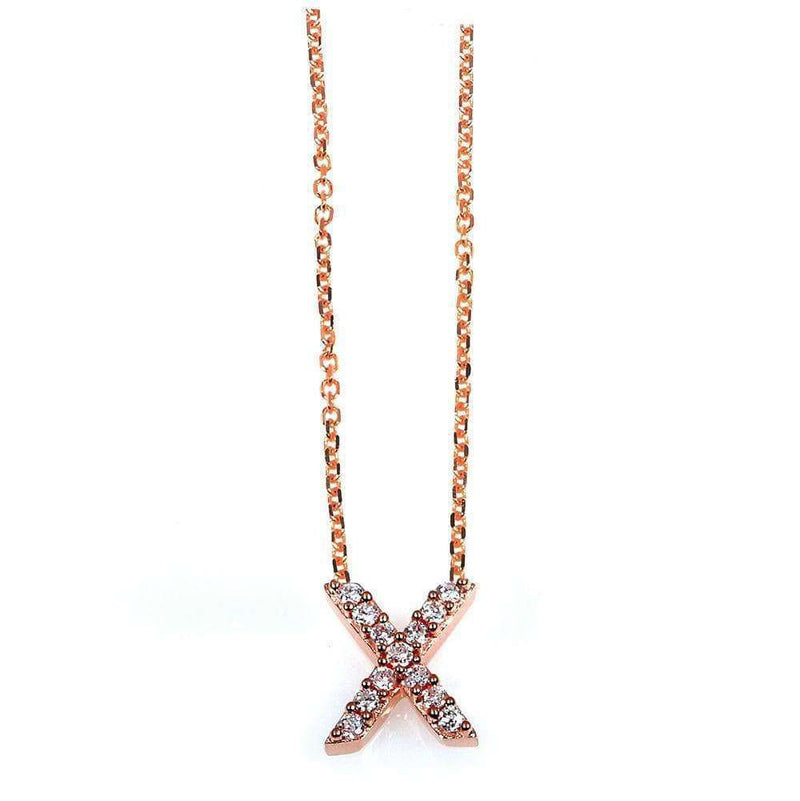 Kobelli Small A-Z Letter Diamond Pendant Gold 61788/X