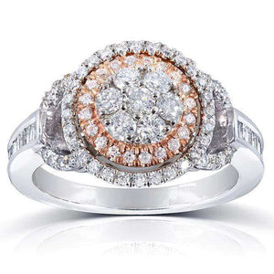 Kobelli Diamond Cluster Engagement Ring 4/5 Carat (ctw) in 14k Gold