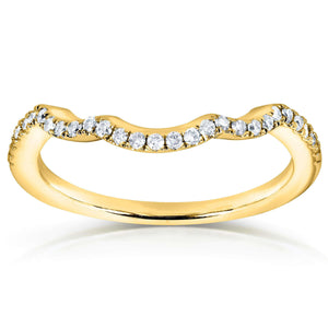 Round Diamond Contoured Wedding Band 1/6 Carat (ctw) in 14K Yellow Gold (for MZ61835R)
