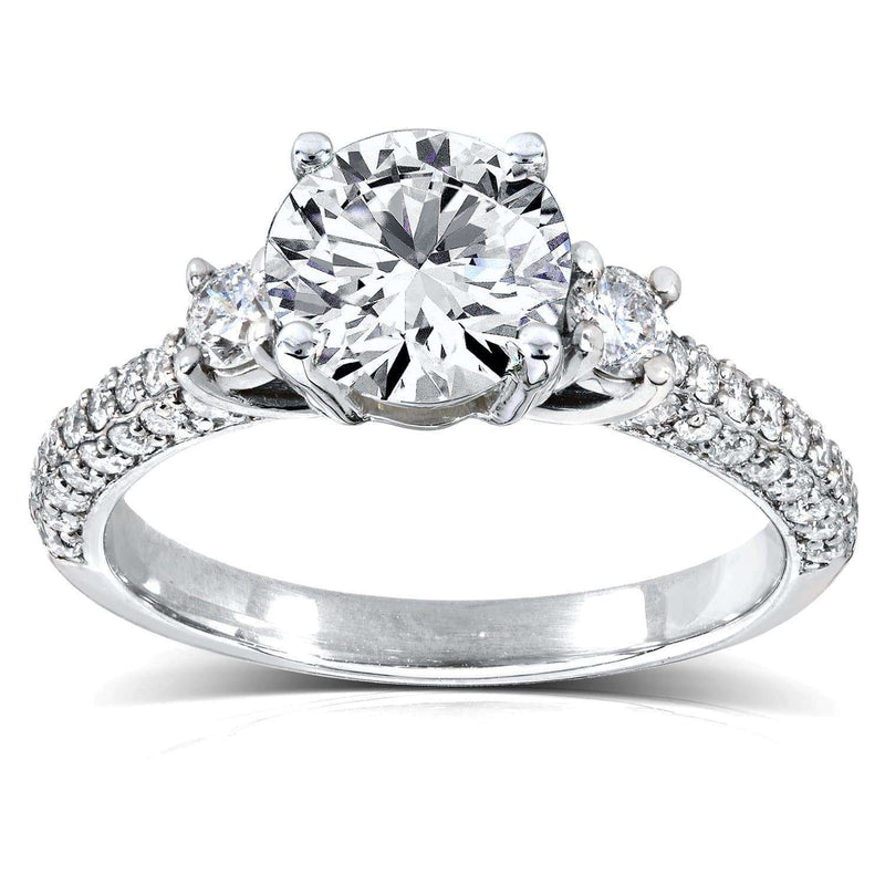 Kobelli Round-cut 1 Carat Diamond Engagement Ring 1 1/2 CTW in 14k White Gold