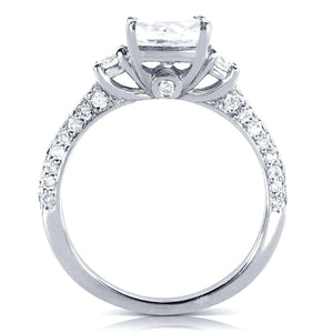Round-cut 1 Carat Diamond Engagement Ring 1 1/2 CTW in 14k White Gold