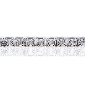 1/2ct.tw Diamond Square Tennis Bracelet