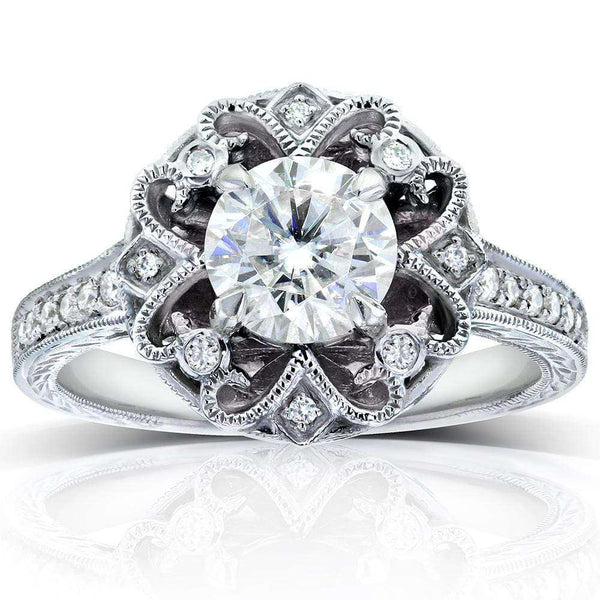Kobelli Antique Round-cut Diamond Vintage Style Engagement Ring 1 1/5 Carat (ctw) in 14k Gold