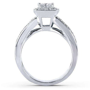 Princess-cut Diamond Bridal Set 1 5/8 Carat (ctw) in 14k White Gold