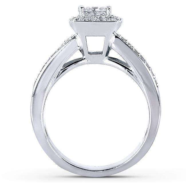 Kobelli Princess-cut Diamond Bridal Set 1 5/8 Carat (ctw) in 14k White Gold