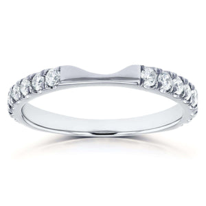 Round Diamond Notched Wedding Band 1/2 CTW in 14k White Gold (Fits Series 61904)