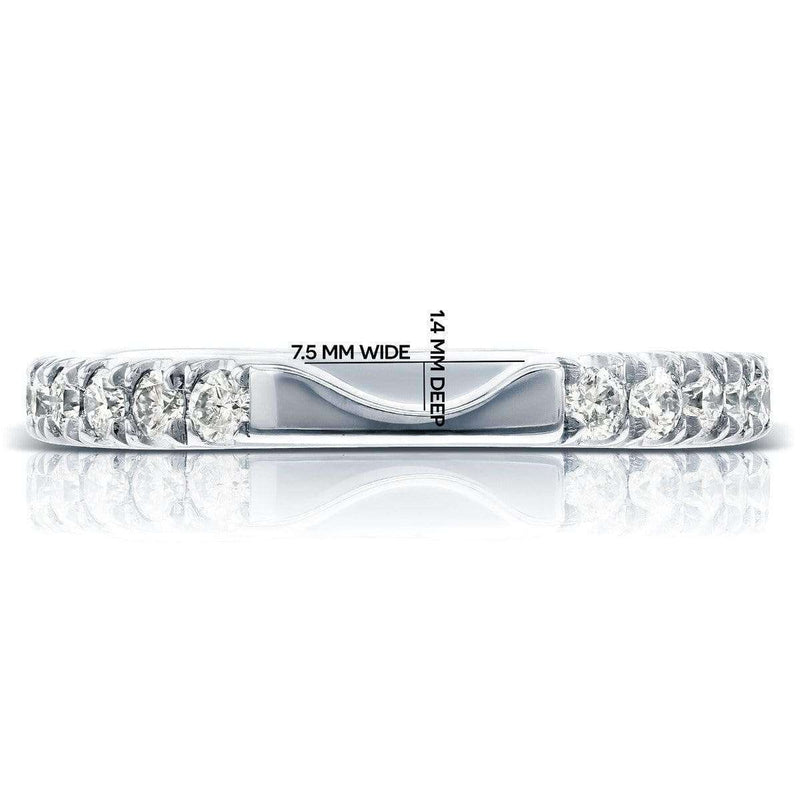 Kobelli Round Diamond Notched Wedding Band 1/2 CTW in 14k White Gold (Fits Series 61904)