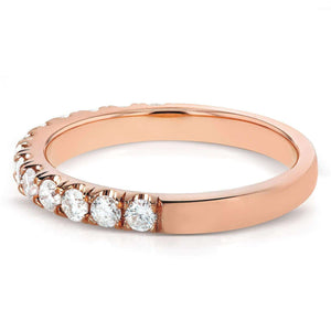 Diamond Comfort Fit Flame French Pave Band 1/2 carat (ctw) in 14K Rose Gold