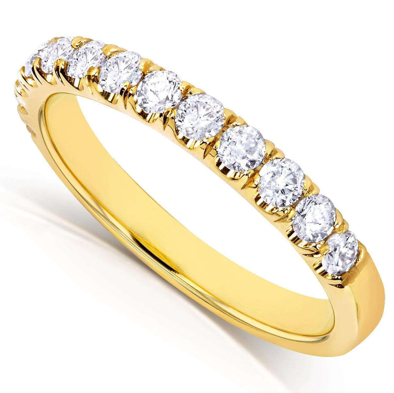 Kobelli Diamond Comfort Fit Flame French Pave Band 1/2 carat (ctw) in 18k Yellow Gold