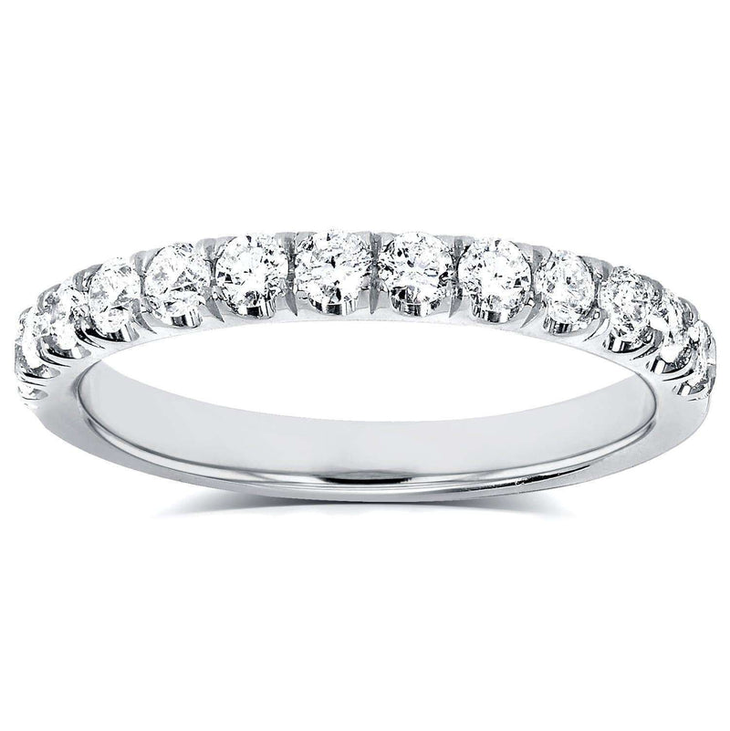 Kobelli Diamond Comfort Fit Flame French Pave Band 1/2 carat (ctw) in Platinum