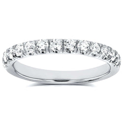 Kobelli Flame French Pave Lab Grown Diamond Comfort Fit Women's Wedding Band 1/2 CTW (DEF/VS) LG61939/4.5W