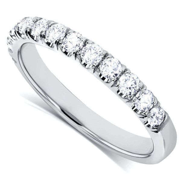 Kobelli Diamond Comfort Fit Flame French Pave Band 1/2 carat (ctw) in 14K White Gold