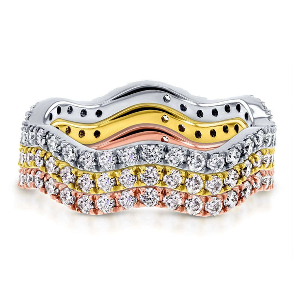 Kobelli Wavy Stackable Diamond Eternity Band 1/2 Carat (ctw) in 14k Gold