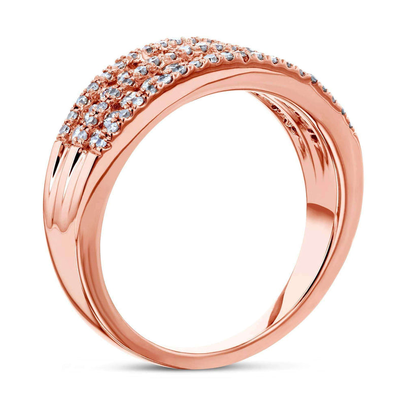 Kobelli Multirow Diamond Band 10k Rose Gold (1 CTW)