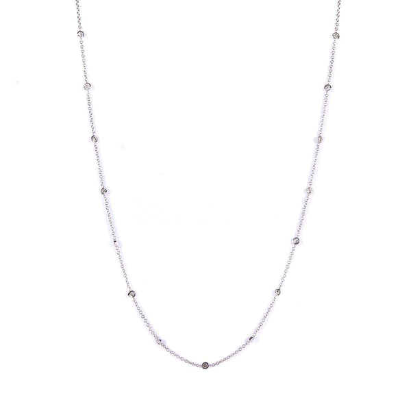 Kobelli Round-cut Diamond by The Yard Necklace 1/2 Carat (ctw) in 14k White Gold (16 Inches Chain) 61963