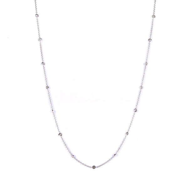 Kobelli Round-cut Diamond by The Yard Necklace 1/2 Carat (ctw) in 14k White Gold (18 Inches Chain) 61964