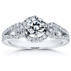Kobelli Round-Cut Diamond Engagement Ring 4/5 Carat (ctw) in 14k White Gold