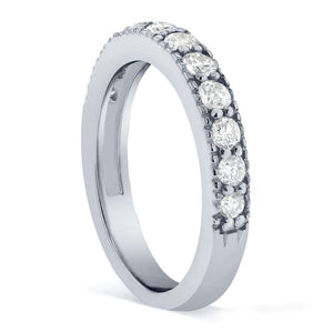 Pave Diamond Band 1/2 CTW in 14K White Gold