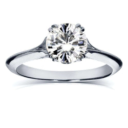 Kobelli Vintage Diamond Engagement Ring 1 1/10 CTW in Platinum