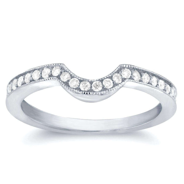 Kobelli 1/4ct.tw Diamond Curve Fitted Wedding Band (Series 62045)