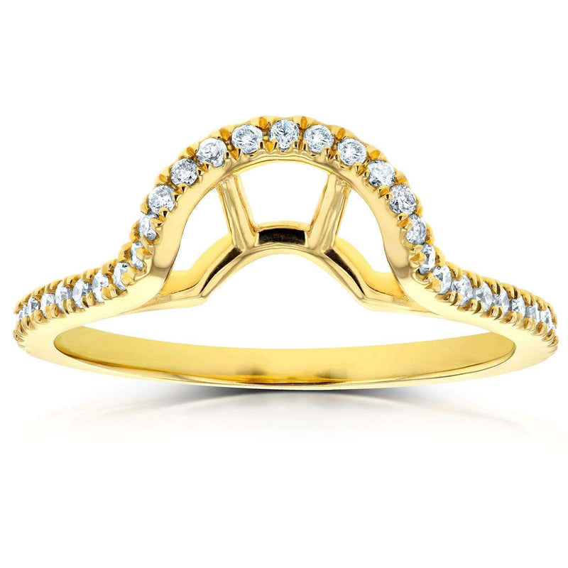 Kobelli Contoured Oval Diamond Wedding Band 1/4 CTW in 14k Yellow Gold