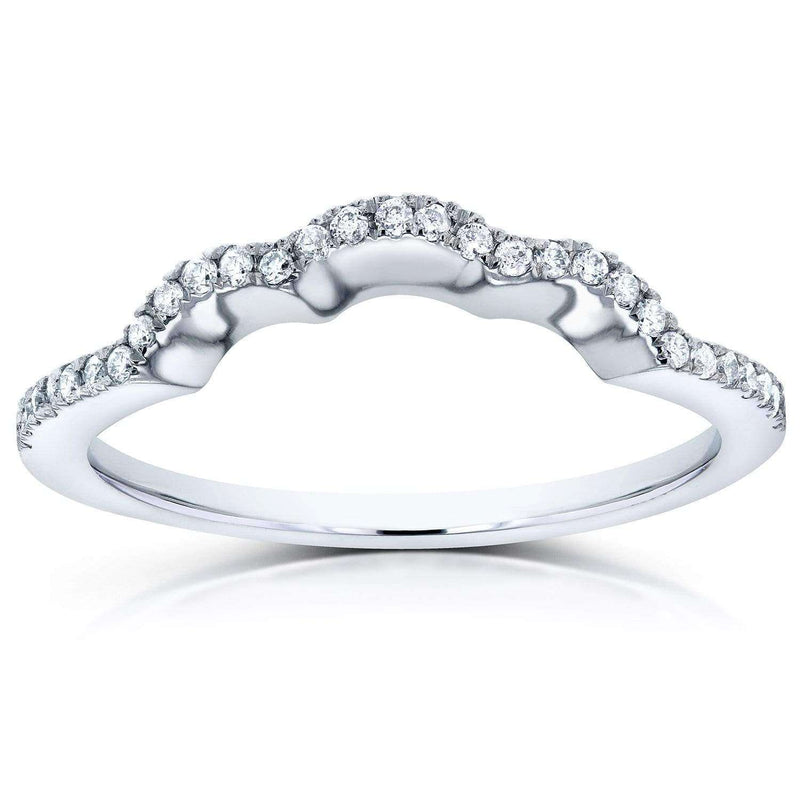 Kobelli Contoured Diamond Wedding Band 14K White Gold (62065 Series)