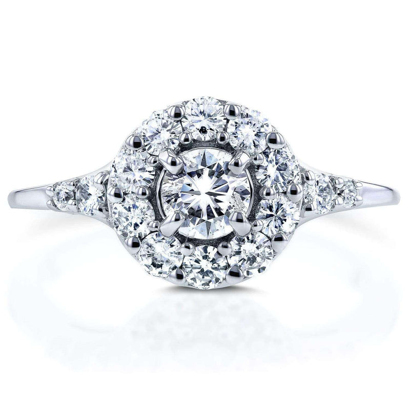 Kobelli Round Halo Diamond Engagement Ring 3/4 Carat (ctw) in 14k White Gold