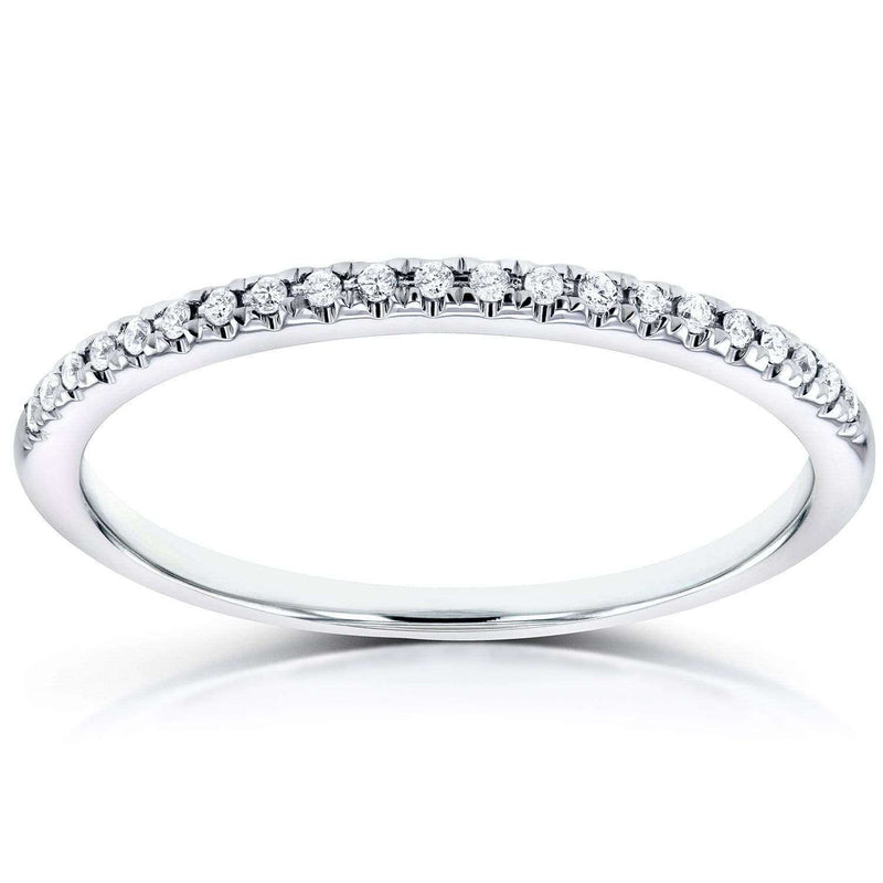 Kobelli Diamond Petite Wedding Band in 14K White Gold