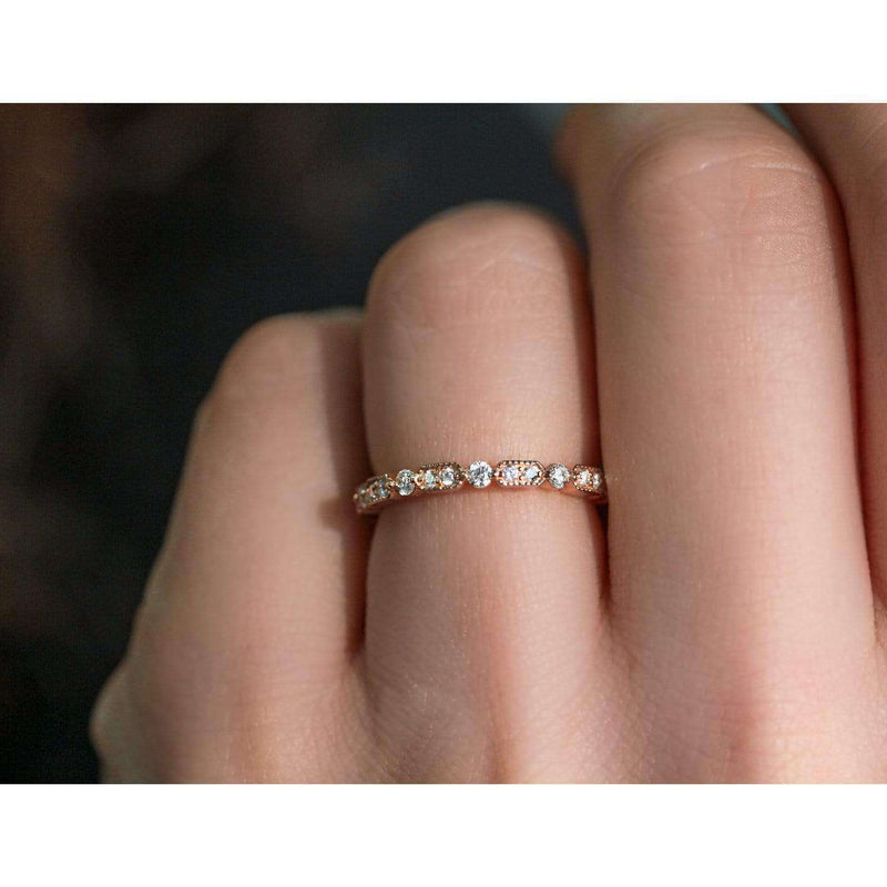 Kobelli Diamond Eternity Band 3/5 CTW in 14k Rose Gold