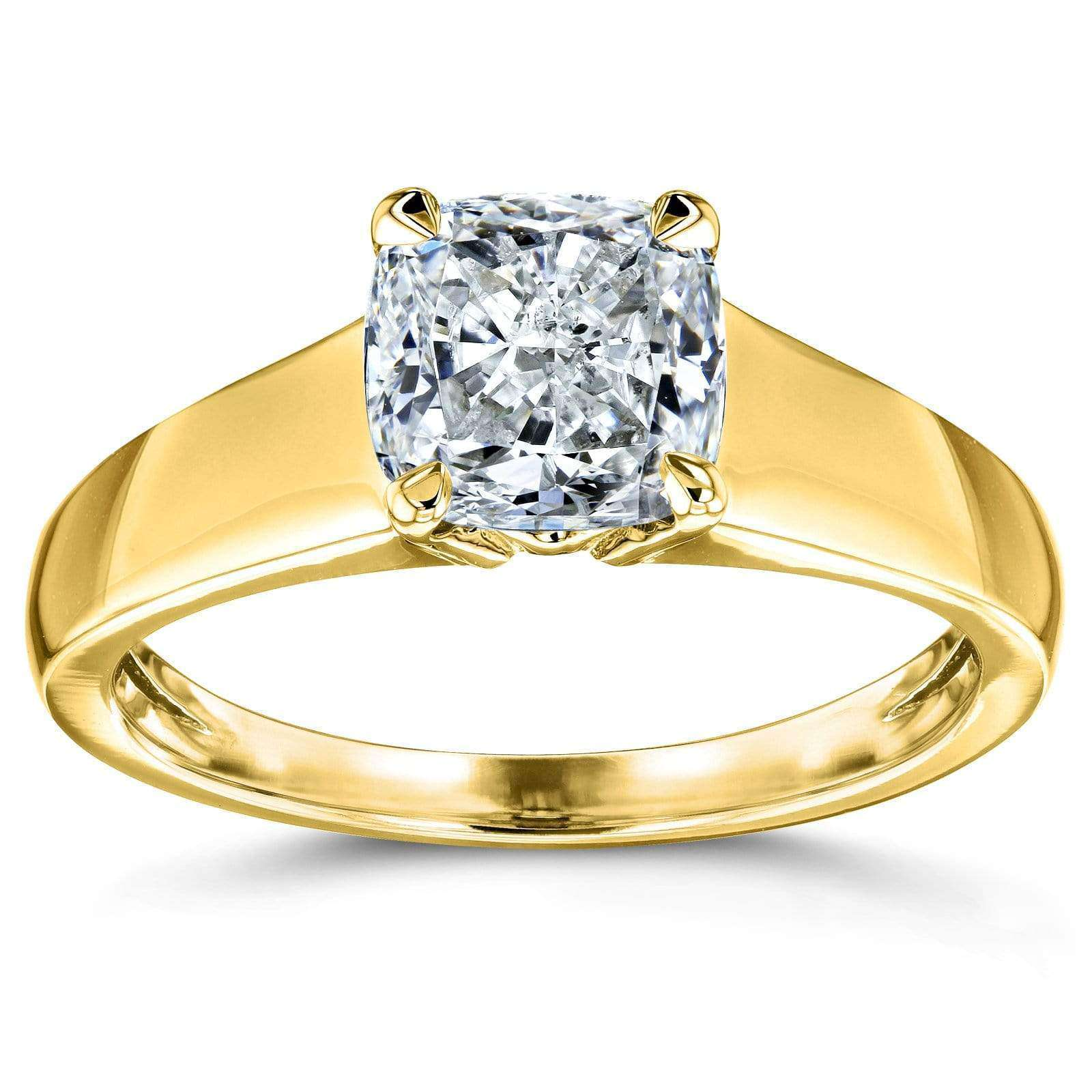 Coupons 1ct Cushion Diamond Wide Solitaire - 4.5